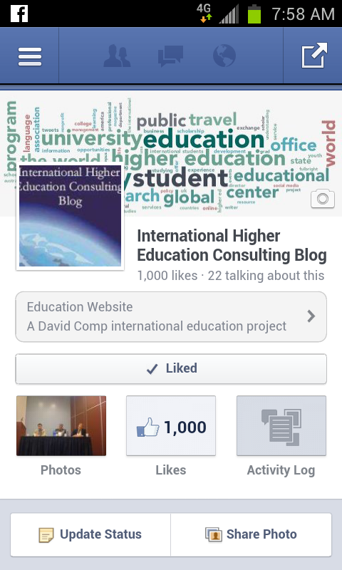 IHEC Blog's Facebook Page Reaches 1,000 Followers