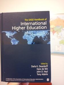 Sage Handbook of Internaitonal Higher Education